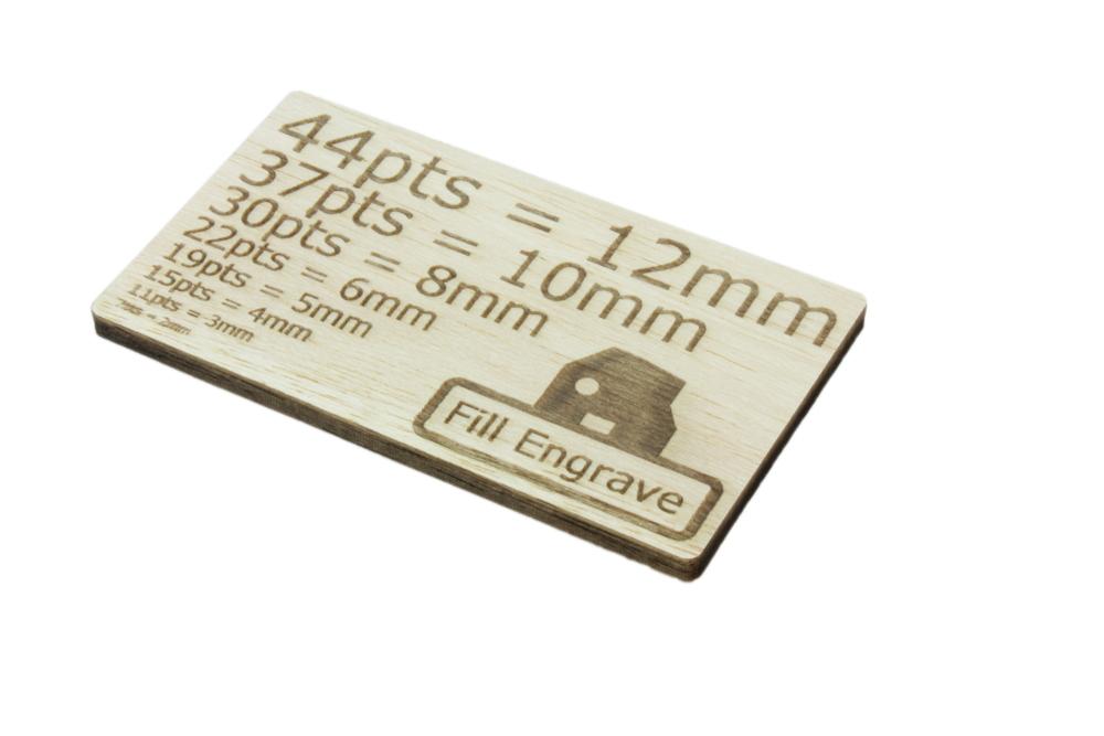 Balsa 6mm - Fill Engrave