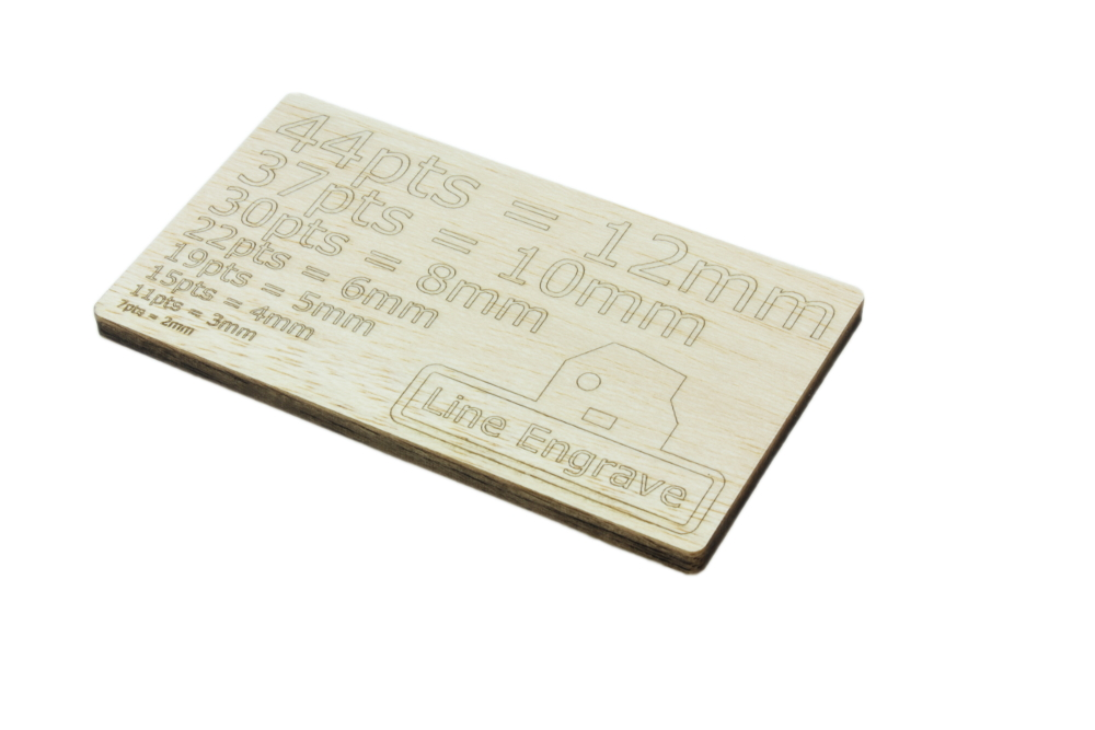 Balsa 6mm - Line Engrave