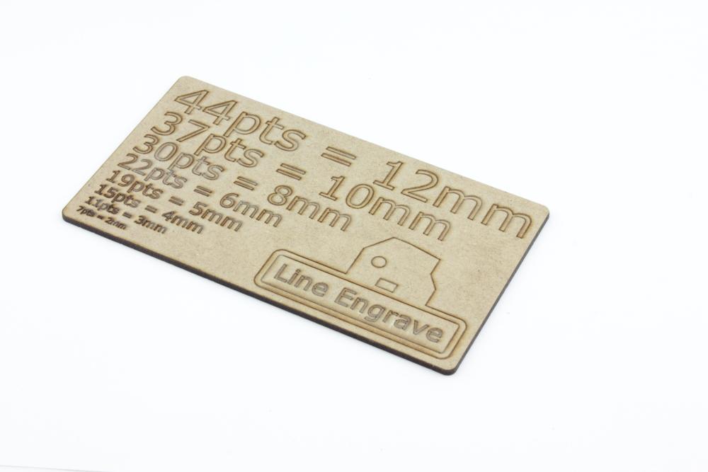 Line Engrave 2mm MDF