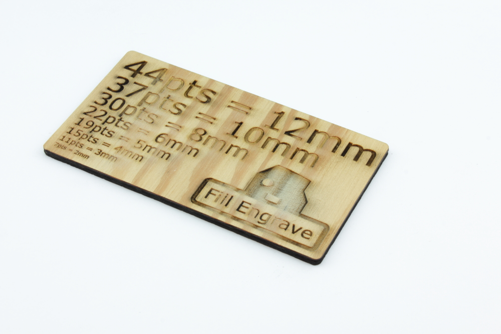 Plywood 4mm Fir - Fill Engrave