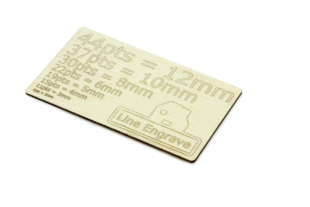 Lite Ply 2mm - Line Engrave