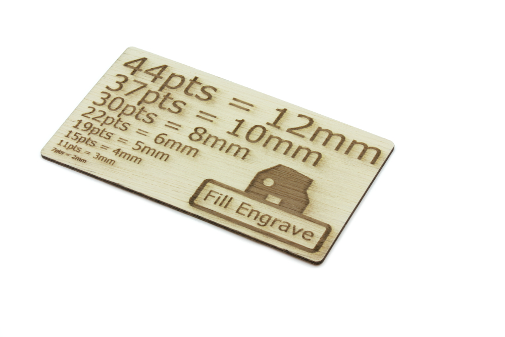 Lite Ply 2mm - Fill Engrave