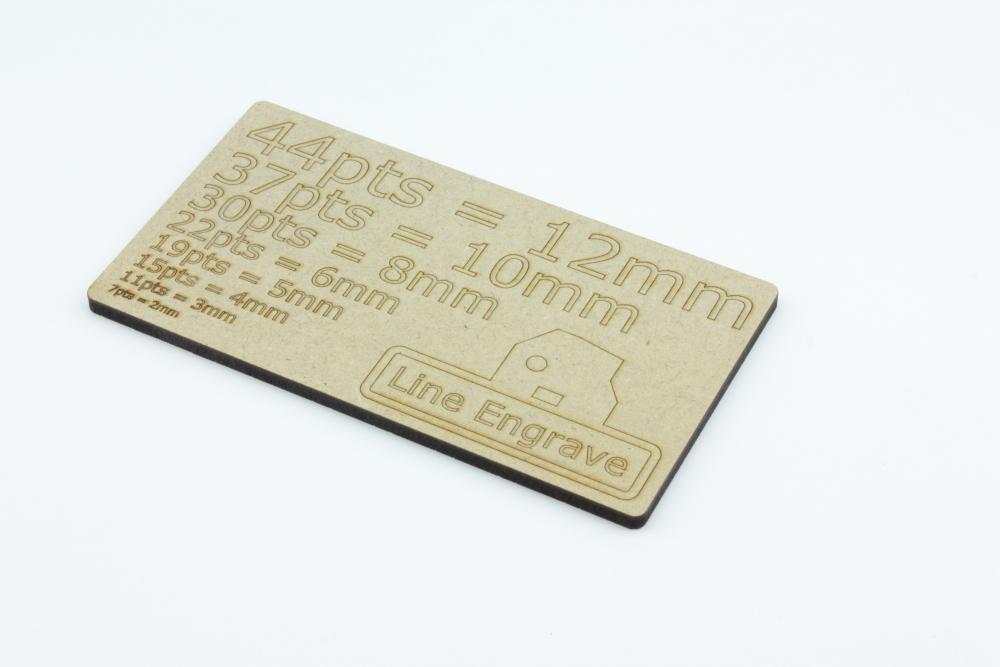 MDF 4mm - Linjegravyr