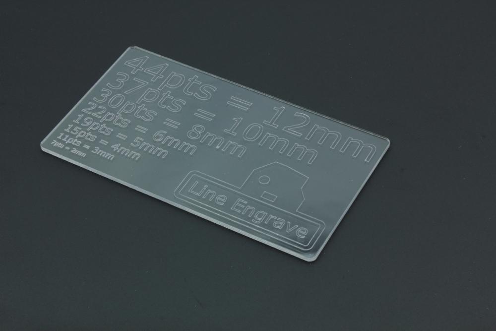 PETG 2mm - Line Engrave