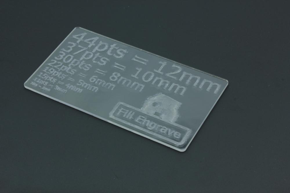 PETG 2mm - Fill Engrave