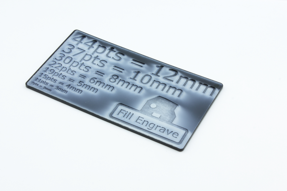 POM 2mm Black - Fill Engrave before cleaning