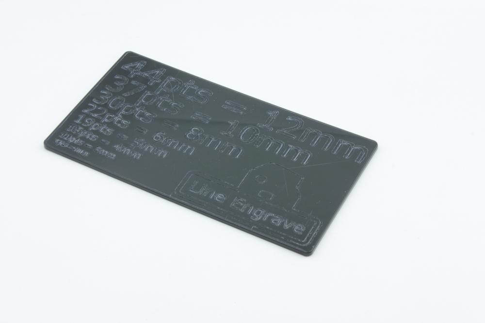 POM 2mm Black - Line Engrave