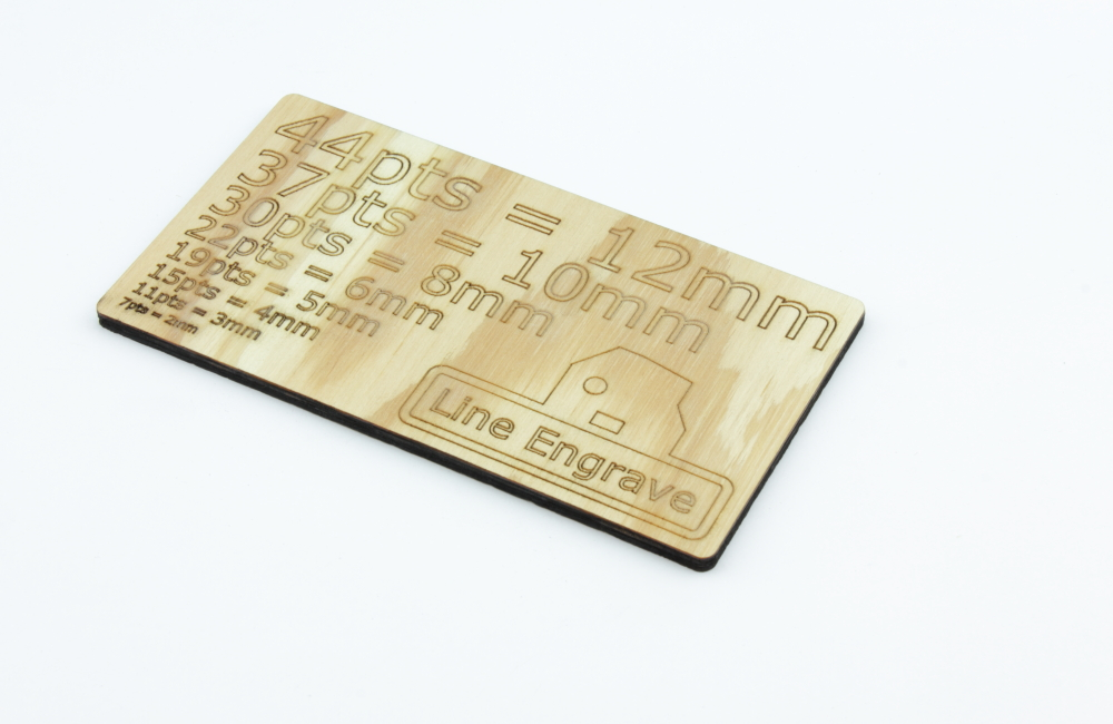 Plywood 4mm Fir - Line Engrave