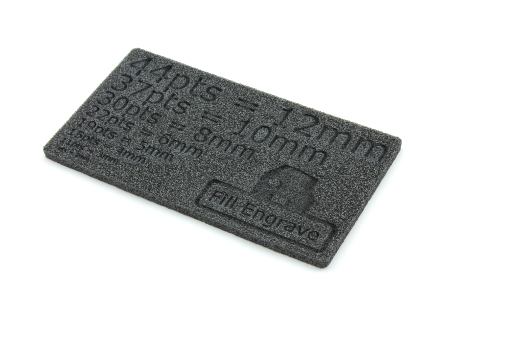 Plastazote LD29 5mm - Fill Engrave
